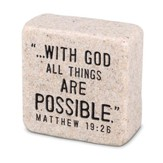 With God All things are Possible Shelf Sitter Stone