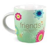 Friends, Ceramic Mug With Scripture Cards (Proverbs 17:17)(16 oz.)