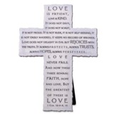 Love, Cast Stone Cross (1 Corinthians 13:4-8, 13)
