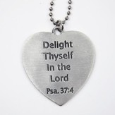 Heart, Delight Thyself in the Lord, Car Charm
