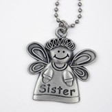 Angel, Sister, Car Charm