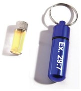 Blue Anointing Oil Vial Keychain