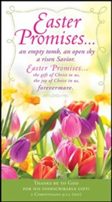 Easter Promises (2 Corinthians 9:15, NIV) Offering  Envelopes, 100