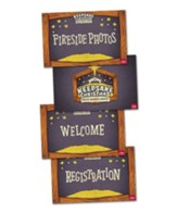Event Signs Poster Pack, set of 4