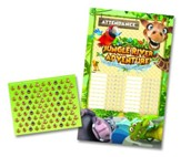 Jungle River Adventure: Attendance Chart with Stickers
