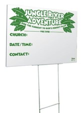 Jungle River Adventure: Community Yard Sign