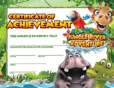 Jungle River Adventure: Certificate of Achievement, pack of 25