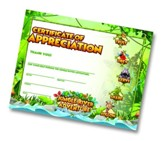 Jungle River Adventure: Certificate of Appreciation, pack of 10