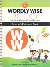 Wordly Wise 3000 Book 1 Teacher's  Guide (2nd/4th Edition;  Homeschool Edition)