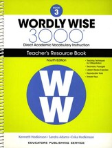 Wordly Wise 3000 Book 3 Teacher's  Guide (4th Edition;  Homeschool Edition)