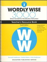 Wordly Wise 3000 Book 4 Teacher's  Guide (4th Edition;  Homeschool Edition)