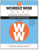 Wordly Wise 3000 Book 7 Teacher's  Guide (4th Edition;  Homeschool Edition)
