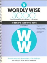 Wordly Wise 3000 Book 9 Teacher's  Guide (4th Edition;  Homeschool Edition)