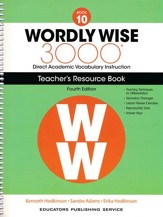 Wordly Wise 3000 Book 10 Teacher's  Guide (4th Edition;  Homeschool Edition)