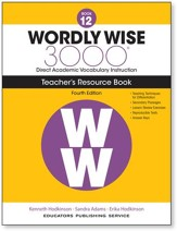 Wordly Wise 3000 Book 12 Teacher's  Guide (4th Edition;  Homeschool Edition)