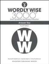 Wordly Wise 3000 Book 3 Key (4th  Edition; Homeschool  Edition)