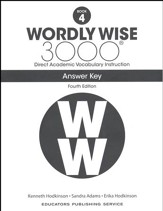 Wordly Wise 3000 Book 4 Key (4th  Edition; Homeschool  Edition)