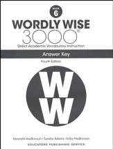 Wordly Wise 3000 Book 6 Key (4th  Edition; Homeschool  Edition)
