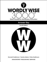 Wordly Wise 3000 Book 7 Key (4th  Edition; Homeschool  Edition)