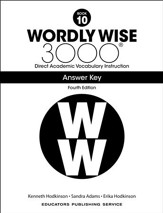 Wordly Wise 3000 Book 10 Key (4th  Edition; Homeschool  Edition)