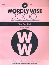 Wordly Wise 3000 Book 2 Tests (4th  Edition; Homeschool  Edition)