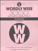 Wordly Wise 3000 Book 3 Tests (4th  Edition; Homeschool  Edition)