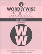 Wordly Wise 3000 Book 4 Tests (4th  Edition; Homeschool  Edition)