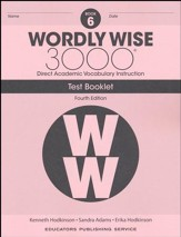 Wordly Wise 3000 Book 6 Tests (4th  Edition; Homeschool  Edition)