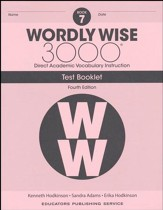Wordly Wise 3000 Book 7 Tests (4th  Edition; Homeschool  Edition)