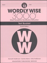 Wordly Wise 3000 Book 12 Tests (4th  Edition; Homeschool  Edition)