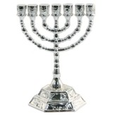 Silver Plated Menorah Decoration