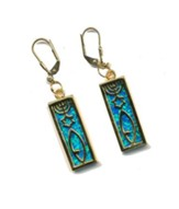 Messianic Sign Earrings Black Opal