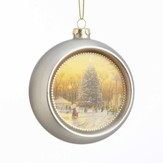 Town Square Glass Ornament, Metallic