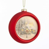 Stonehearth Hutch Glass Ornament, Red