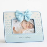 Made With 100 Percent Love Photo Frame with Bow, Blue