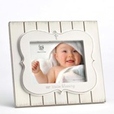Our Little Blessing Photo Frame, White