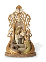 Ornate Sculpted Nativity Figurine, Isaiah 9:6