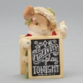 Heart of Christmas, Mouse with Sign Figure