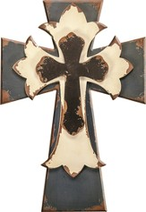Layered Wall Cross, Blue