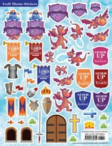 Knights of North Castle: Craft Theme Stickers (pkg. of 12)