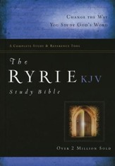 KJV Ryrie Study Bible Hardcover, Red Letter