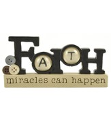 Faith, Miracles Can Happen Blocks Figure