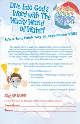 The Wacky World of Water VBS: Dive into God's Word! Promotional Bulletin Inserts Pack of 25