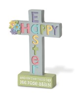 Happy Easter Cross Figurine