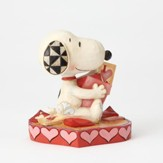 Snoopy with Valentine's Day Cards Figurine, Puppy Love