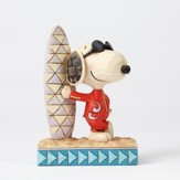 Joe Cool Snoopy Figurine, Surf's Up