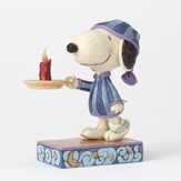 Snoopy with Candle Figurine, Bedtime Beagle