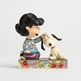 Lucy and Snoopy Figurine, Angling For Attention