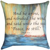 White Sailboat Pillow