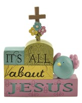 All About Jesus Stacked Block Figurine